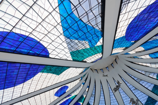 Interior da Catedral de Brasília. Fonte: G1